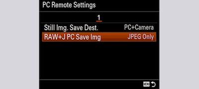 Selectable storage for remote shooting
