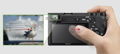 Intuitive Touch Focus even with your eye to the viewfinder