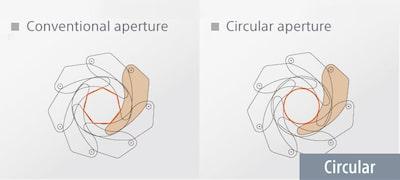 7-bladed circular aperture