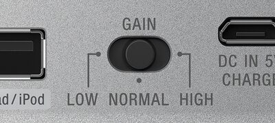 Control input signal with gain