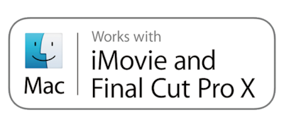 Kompatibel mit iMovie & Final Cut Pro X