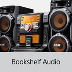 bookshelf and mini hifi audio